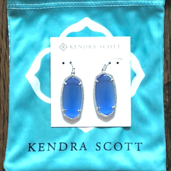 ba9db4453 Kendra Scott Jewelry | Elle Silver Earrings Periwinkle Nwt | Poshmark